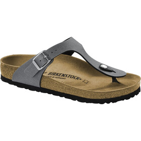 Birkenstock Gizeh Sandalias Piso Corcho Mujer, icy metallic anthracite